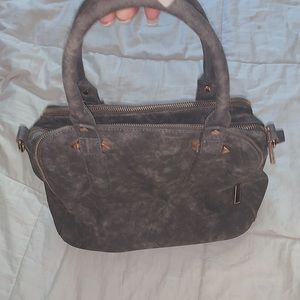 washed out grey purse